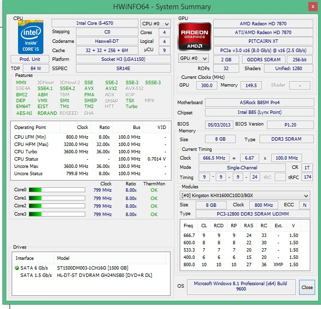 Speed Game Pro I HD7870 hwinfo64
