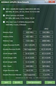 N550JK intel hd 4600 VS. nvidia GTX 850M