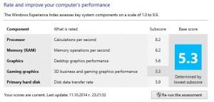 Acer Aspire VN7-791 windows 8.1 assessment