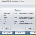 ASUS G751JY 3dmark06 1080p
