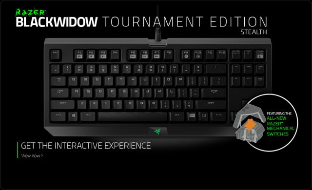 Механична клавиатура Razer BlackWidow Tournament 2014 RZ03-00811700-R3M1