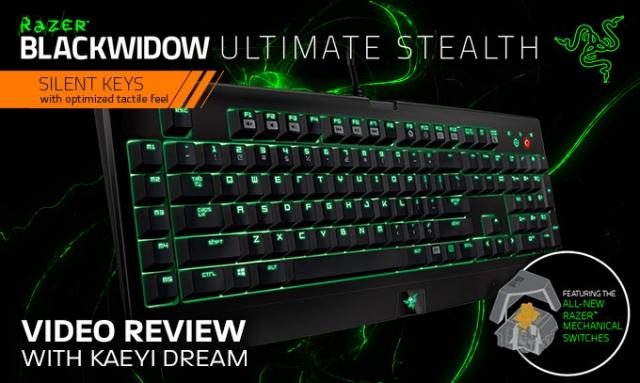 Механична клавиатура Razer BlackWidow Ultimate Stealth 2014
