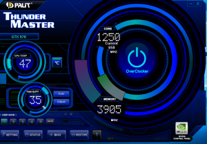 Speed GTX SkyLake Palit thunderMaster screen