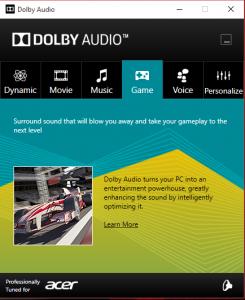 Acer Predator G9 791 audio info