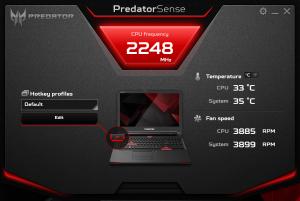 Acer Predator G9 791 predator sense 1