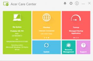 Acer Predator G9 791 system care