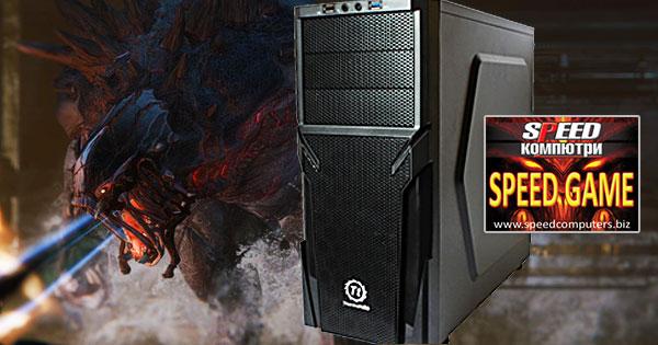 SPEED GAME PRO II i7 6700 R5.0 е мoщен компютър с последно - шесто - поколение Skylake четириядрен процесор Intel Core i7, висок клас графична карта и DDR4 памет, подходящ както за тежки 3D игри, така и за натоварващи графични приложения!