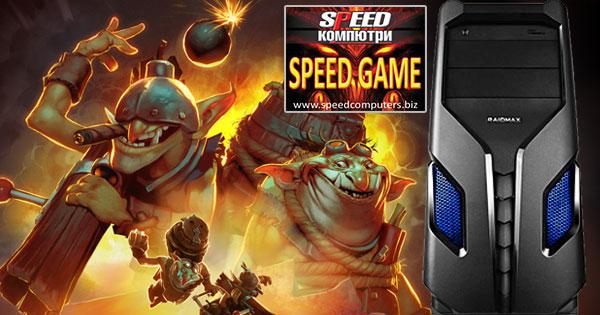 SPEED GAME IV е отличен домашен компютър за игри, с мощен четириядрен процесор Core i5 6600 Skylake и видеокарта GTX 750 Ti.