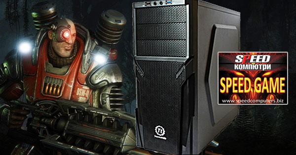 Геймърски компютър SPEED GAME II GTX Ed 4-CORE R4.0 на СУПЕР ЦЕНА!