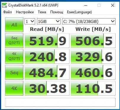 256GB Micron 1100 SSD