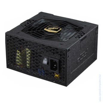 Захранване за компютър Fortron AURUM S 500 500W Active PFC AURUM S Series – is a brand-new power supply series that is comprised of high-quality components and also carries several power protections OCP/OVP/SCP/OPP/UVP. AURUM S meets 80 PLUS® Gold certified with more than 90% power efficiency and compliant with 2013 ErP standard which requires regulations relating to standby power consumption less than 0.5W.
