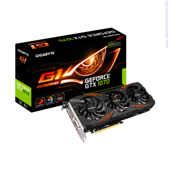 Gigabyte GTX 1070 G1 Gaming 8GB GDDR5 видео карта Power by GeForce® GTX 1070