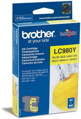 Brother LC-980Y Ink Cartridge for DCP-145/165/195/375, MFC-250/290 series за DCP-145/165/195/375, MFC-250/290 series