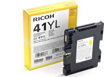 Мастило гел RICOH GC 41YL, GelJet SG 2100N/2100DN, 600 копия, Yellow Compatible with:   Ricoh GelJet SG 2100N, SG 2100DN SG3110DNw SG3100SNw SG3110SFNw SG3120BSFNw SG7100DN Page yield:   600 pages Color: Yellow