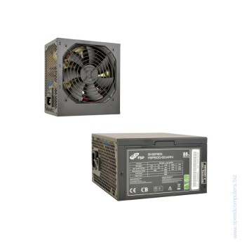 Захранване за компютър Fortron FSP600-50ARN 600W Active PFC This ATX / PS2 power supply unit (PSU) has a real power rating of 600W (continuous @ 40°C). The eco-friendly design allows ARN 88+ series to reach up to 88% efficiency. ARN series also protects your PC by providing complete protection (OCP, OVP and SCP). ARN series also has black coating, making it the best choice for gamers and system builders using black chassis.