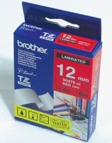 Brother TZE-435 Tape White on Red