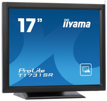 IIYAMA ProLite T1731SR-B1 5:4 резистивен тъчскрийн монитор ProLite T1731SR-B1 is based on the latest 5 Wire Resistive technology. Price / performance ratio is ideal for the budget conscious user while quality and specification is certainly not compromised. The display inputs include both Analogue and Digital (DVI) with Touchscreen connectivity via either USB or RS-232 which offers greater than typical flexibility. A solid and steady base supports the TouchScreen with an adjustable stand offering full 90 degree angles. Extensive Touch Utilities allow for 4 point calibration and either 9/25 point linerization. An incredibly powerful Touch solution.