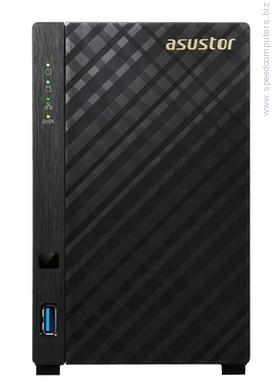 "Asustor AS3102T 2-bay NAS мрежов сторидж Мрежов сторидж, Asustor AS3102T, 2-bay NAS, Intel Celeron Dual-Core N3050 ( up to 2.1GHz, 2MB), 2GB DDR3L(non-upgradeable), 2 x 3.5"" SATAII / SATAIII, GbE x 1, USB 3.0 - 1*Front/2*Rear, HDMI 1.4b, 16 Channel IP Cam(4 license included) WoL, System Sleep Mode, Tower"