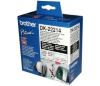Brother DK-22214 White Continuous Length Paper Tape 12mm, 12mmx30.48M, Black on Whites