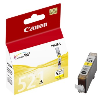 Canon Ink Tank CLI-521 Yellow For Canon PIXMA iP3600, iP4600, iP4700, MP540, MP550, MP620, MP560, MP640, MP980, MP990, MX860, MX870