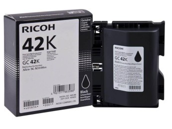 Мастило гел RICOH GC42K, 10000 копия , Черен Compatible with:   Ricoh GelJet SG K3100DN Page yield:   10000 pages Color: Black