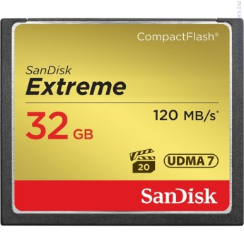 Карта памет SanDisk Extreme Compact flash 32GB Карта памет SanDisk Extreme Compact flash 32GB