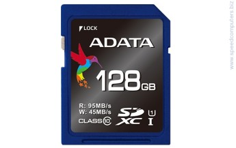 ADATA Premier Pro 128GB SDXC/SDHC UHS-I U1 Class 10 Карта памет Карта памет ADATA Premier Pro 128GB SDXC + SD Adapter USH-I Class 10
