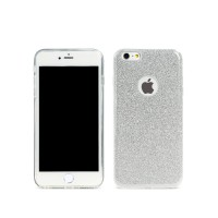 Протектор за iPhone 7/7S Plus, Remax Glitter, TPU, Slim, Сребрист