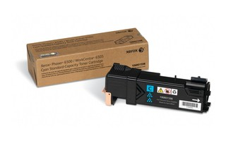 Xerox Phaser 6500N/6500DN and WC 6505N / 6505DN Cyan Toner Cartridge 106R01598 Phaser 6500, WorkCentre 6505