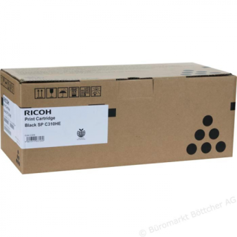 Тонер касета Ricoh SPC310HE, 7200 копия  Черен Compatible with:   SP C310, Aficio SP C231SF/C232SF/C311N/C312DN/C231N/C232DN/C320DN/  C242DN/C242SF/ C320DN/ C342DN Page yield:   7200 pages Color: Black