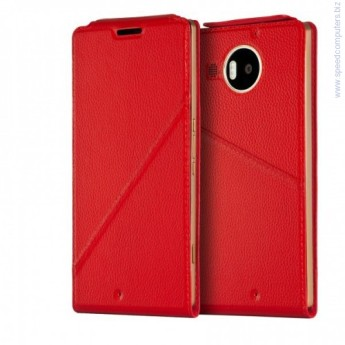 Microsoft LUMIA 950XL Flip Cover RED калъф за смартфон Microsoft LUMIA 950XLFlip COVER RED