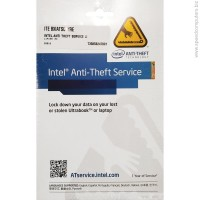 Intel Anti-Theft Activation Code Card 1 Year