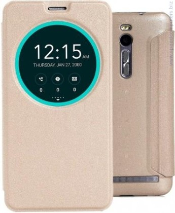 Asus View Flip Cover Deluxe за ZenFone 2 ZE551ML Gold Калъф за смартфон  Asus View Flip Cover Deluxe за ZenFone 2 ZE551ML Gold Калъф за смартфон 90AC00F0-BCV039