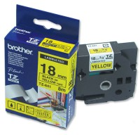 Brother TZ-641 Tape Black on Yellow, Laminated, 18mm Eco