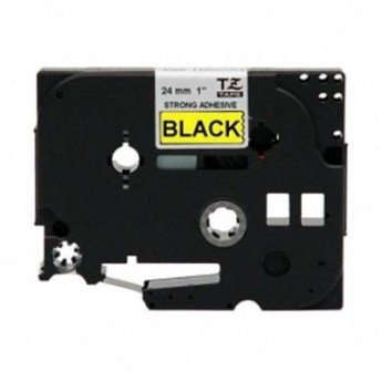 Brother TZ-E651 Tape Black on Yellow, Laminated, 24mm - Eco PT2430/ 7600