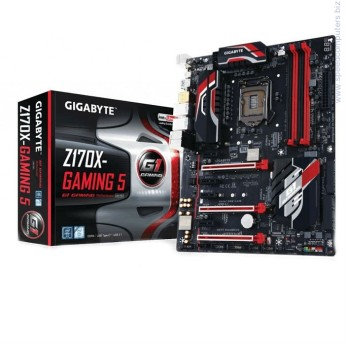 Дънна платка Gigabyte Z170X-GAMING 5 • ПроцесорSupport for Intel® Core™ i7 processors/Intel® Core™ i5 processors/ Intel® Core™ i3 processors/Intel® Pentium® processors/ Intel® Celeron® processors in the LGA1151 packageL3 cache varies with CPU