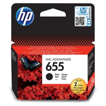 HP 655 Black Ink Cartridge HP Deskjet Ink Advantage 3525, 4615, 4625, 5525, 6525 e-All-in-One