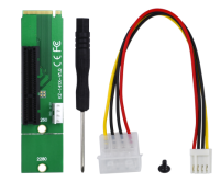 M2 M.2 to PCI-E 4x 1x Riser Card Adapter For BTC Miner Mining