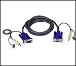 ATEN 2L-2402A KVM кабел HD15 F + Audio plug 1.8 м