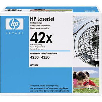 HP LaserJet 4250/4350 High-Volume Smart Print Cartridge, black (up to 20,000 pages) Съвместимост : HP LaserJet 4250 и HP LaserJet 4350Цвят : ЧеренQ5942X