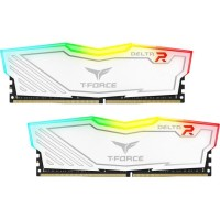 Team Group Elite Delta RGB DDR4 2x8GB 2666Mhz памет бяла