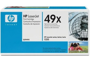 HP LaserJet 1320 High Volume Smart Print Cartridge, black Съвместимост : HP LaserJet 1320, HP LaserJet 3390/3392Цвят : Черен Q5949X