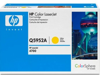 HP Color LaserJet Q5952A Yellow Print Cartridge for CLJ 4700, up to 10,000 pages Съвместимост : HP Color LaserJet 4700Цвят : YellowQ5952A