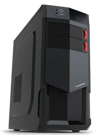 "Кутия Trendsonic FC-E31A ATX черен без захранване Кутия Trendsonic E31A, ATX/ MICRO ATX, 7 slots, 2 X 5.25"", 4 X 3.5"" H.D., 2 X 2.5"" SSD, 2 X USB2.0 / 2 x AUDIO /, PSU Opt,1 X 120mm Front LED fan RED, 1 x 120mm Back Black FAN /opt/., 1 X 120mm Side LED fan /opt./, Black/RED"