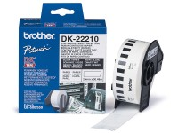 Brother DK-22210 Roll White Continuous Length Paper Tape 29mmx30.48M (Black on White)