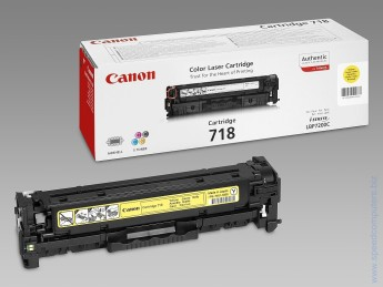 Canon LBP CRG 718 Yellow Toner for LBP7200 Консуматив, Canon LBP CRG 718 Y, цвят Жълт