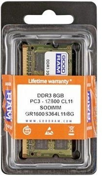 Памет Goodram 8GB DDR3 1600MHz SODIMM Goodram 8GB DDR3 1600MHz SODIMM