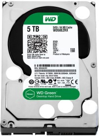 Твърд диск Western Digital Green 5000GB 3.5'', 64MB, IntelliPower, SATAIII