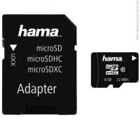 HАМА Micro SDHC 8GB Class 10 UHS-I SD adapter Карта памет