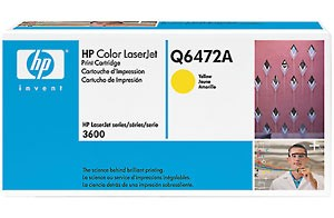 HP Color LaserJet 3600 Yellow Print Cartridge Q6472A, up to 4,000 pages Съвместимост : HP Color LaserJet 3600Цвят : Yellow Q6472A